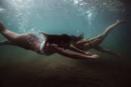 photo sous l'eau dans la mer en Méditerranée