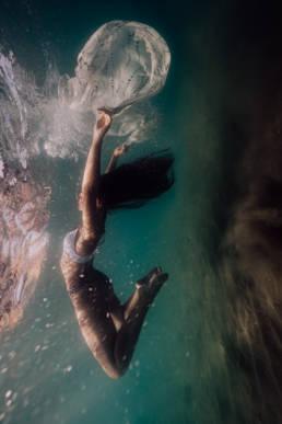shooting photo sous l'eau à la mer