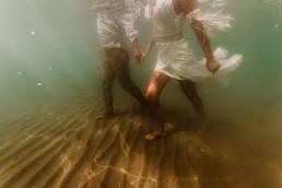 photo mariage sous l'eau underwater