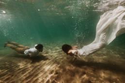 photo mariage sous l'eau frontignan