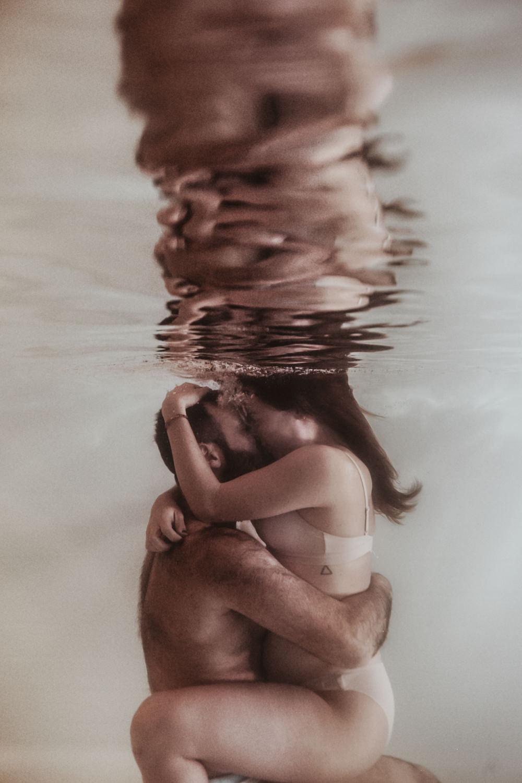 Photographe couple aquatique Montpellier